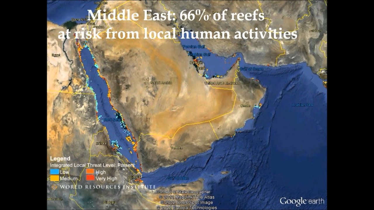 Middle East Map Activities.Middle East Google Earth Tour Of Reefs At Risk Youtube