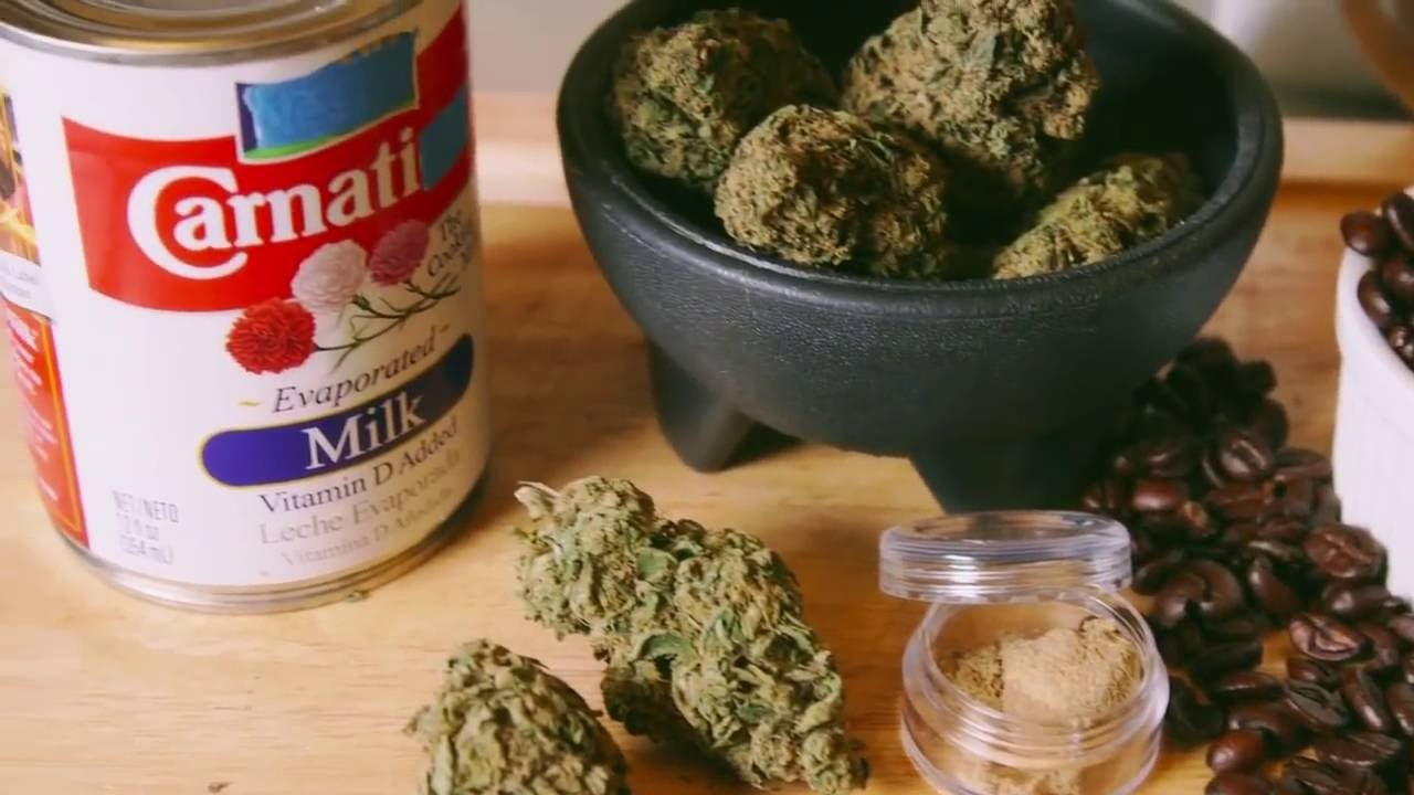Marijuana Milk Cannabis Coffee Cocoa Drinks Cooking with Marijuana