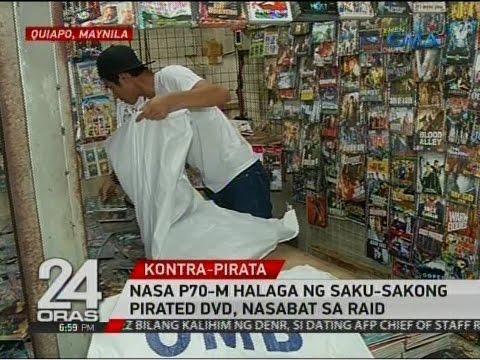 24 Oras: Nasa P70-M halaga ng saku-sakong pirated DVD, nasabat sa raid