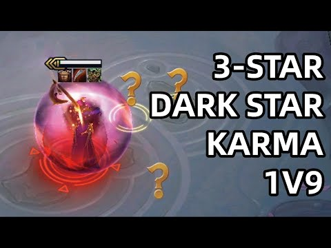 3-STAR DARK STAR KARMA 1V9! JUST LET ME ONE LAST DANCE | TFT SET 3 | Teamfight Tactics
