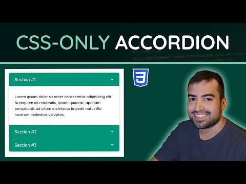How To Create A CSS-Only Accordion (Mobile Friendly) - HTML & CSS Tutorial