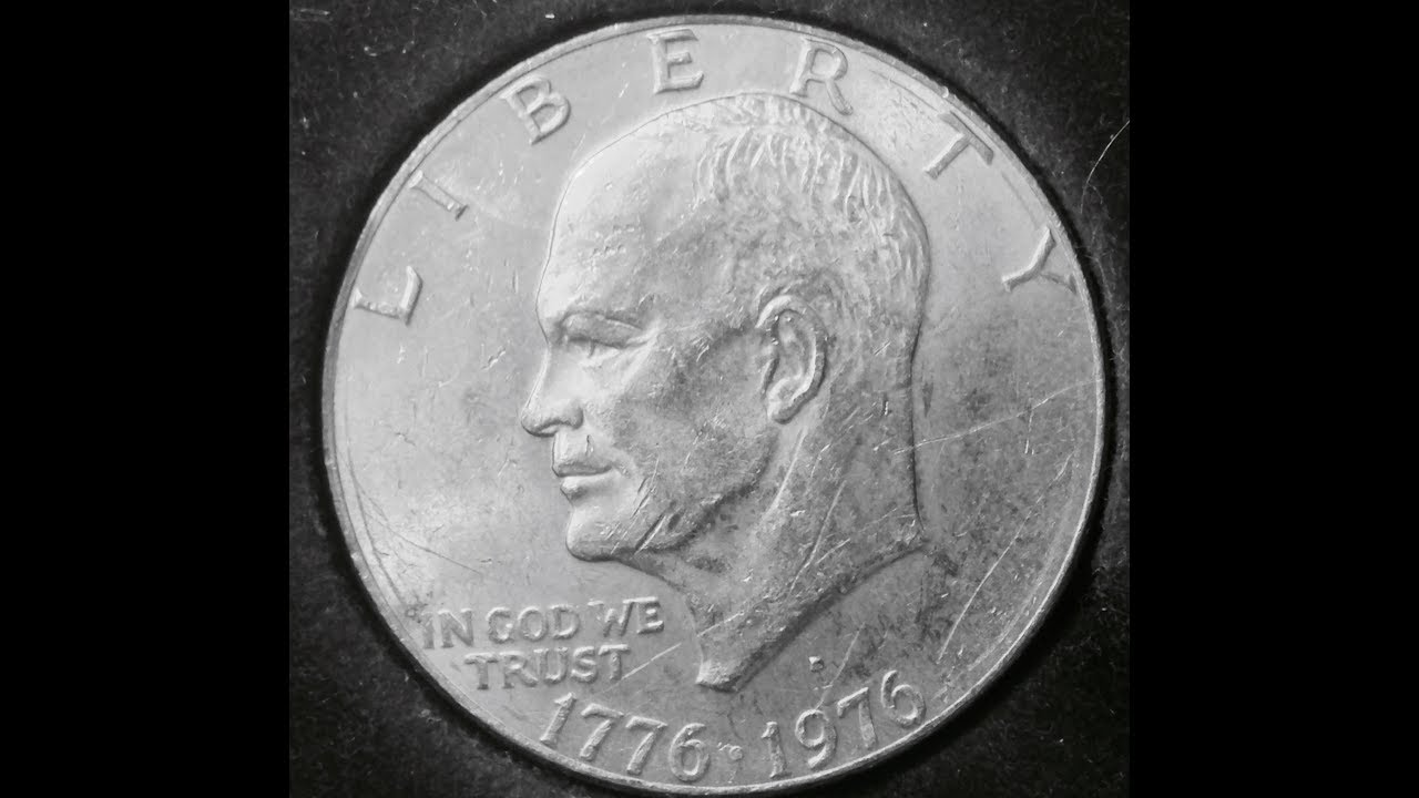 Eisenhower One Dollar Coin Date 1776 1976 Youtube