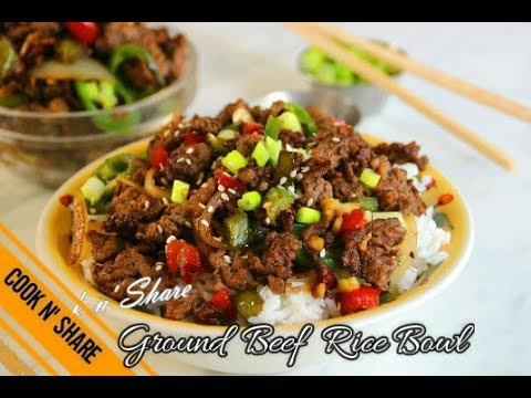 One Pan Ground Beef Rice Bowl - Dinner in 30 Minutes