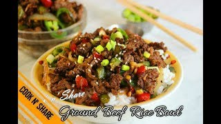 Gambar cover One Pan Ground Beef Rice Bowl - Dinner in 30 Minutes