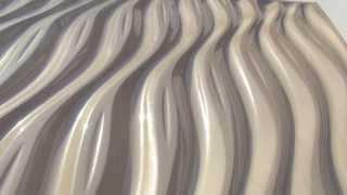 Плитка потолочная для Армстронга Бежевый глянец Новая волна(Водостойкая дизайнерская 3D плитка потолочная для Армстронга Бежевый глянец -ПВХ