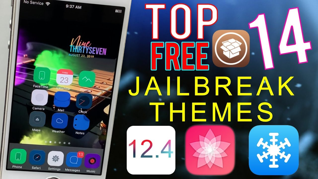 *NEW* TOP 14 FREE BEST JAILBREAK THEMES For iOS 12 4 (Snowboard & Anemone 3  - JB Theme )