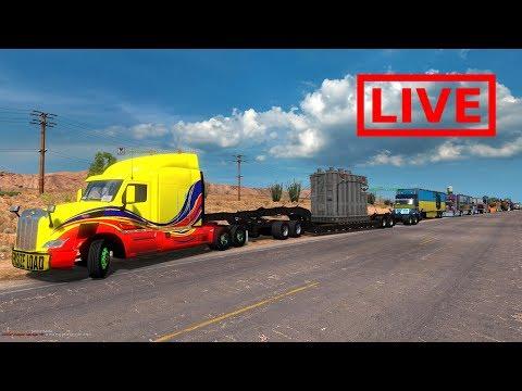 Convoy Multiplayer | Camiones Kenworth y Peterbilt De Jackpot, Nevada a San Diego, California