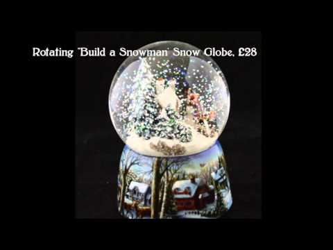 German Musical Snow Globes from Barretts - 'Build a Snowman'