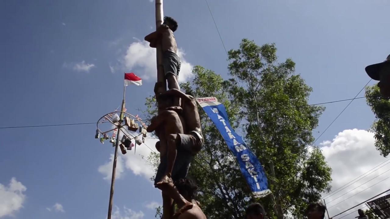 Panjat Panjatan Pinang dan bambu gokil Kec NgLIPAR