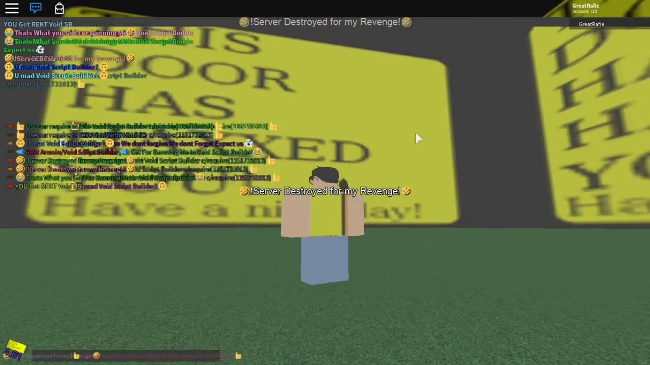 [No Longer Working] ROBLOX Script Showcase Episode #11 - Server Destroyer