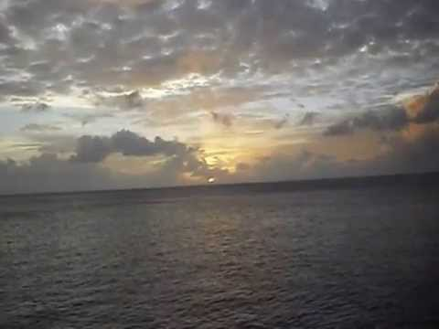Sunset off Alamagan Island, Micronesia