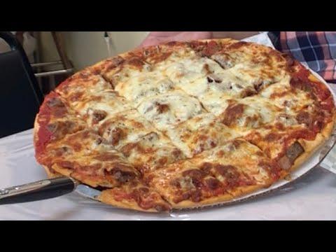 Zabiha Halal Food Review-Cheesy  Meaty  The halal meat lovers pizza!!  Levato's Pizzeria