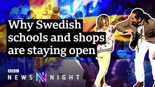 Swathes of the world have gone on some form lockdown to fight coronavirus, but in sweden they are still open for business. subscribe our channel here: ...