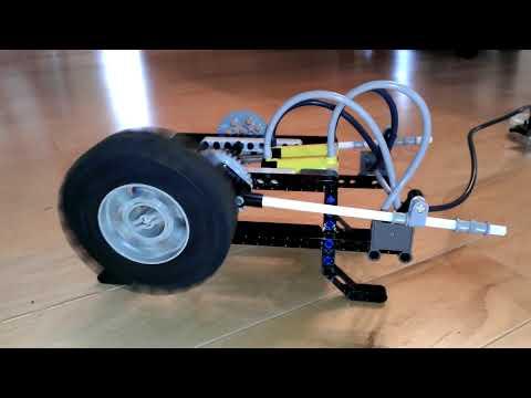 LEGO 2 cylinder pneumatic motor
