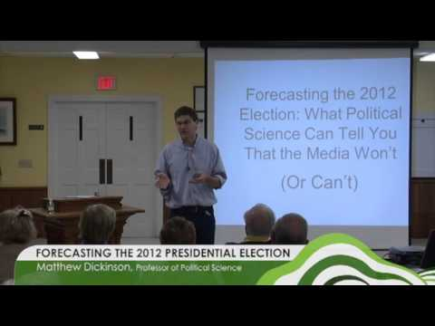 Green Mountain Academy Lectures - Forecasting the 2012 Presidential Election 09.17.12