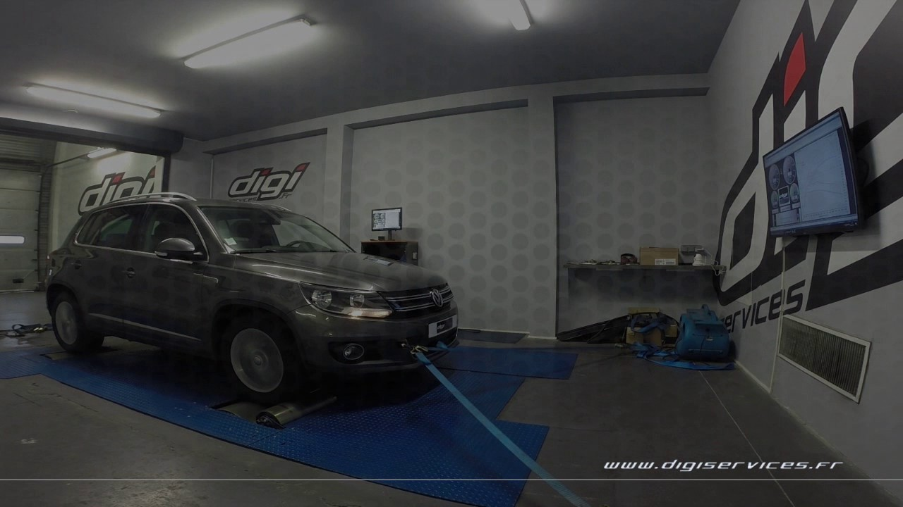 vw tiguan 2 0 tdi 140cv reprogrammation moteur 188cv digiservices paris 77 dyno youtube. Black Bedroom Furniture Sets. Home Design Ideas