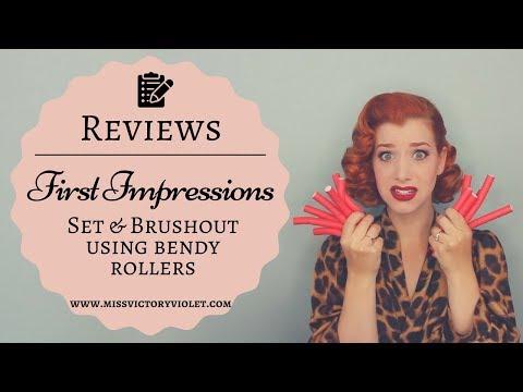 Bendy Roller Vintage Set & Brush Out | FIRST IMPRESSIONS