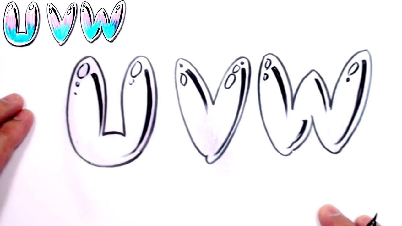 Graffiti Letters Alphabet Bubble Letters Alphabet U V W Mat Youtube