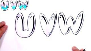 W Bubble Letter ... Letters Alphabet Bubble Letters Alphabet U V W - MAT - YouTube