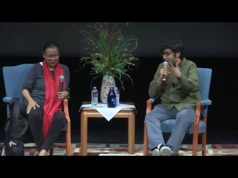 bell hooks and Hari Kondabolu dialogue at St. Norbert College