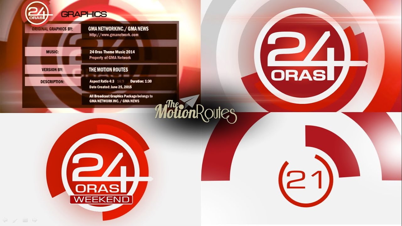 24 Oras Gma Graphics Version By The Motion Routes Youtube