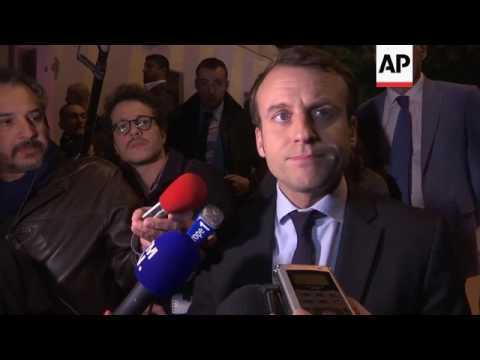 Macron arrives in Lebanon for two visit