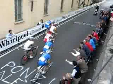 Mondiali Ciclismo Varese 2008 - Scatto Rebellin ultimo giro