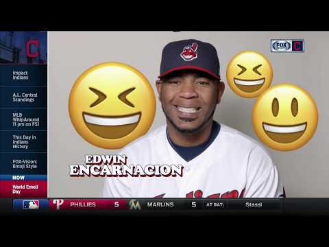 Cleveland Indians players celebrate World Emoji Day by sharing their faves