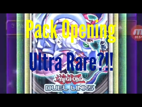 Opening Ultra Rare?!? Yu-Gi-Oh Duel links Pack Opening