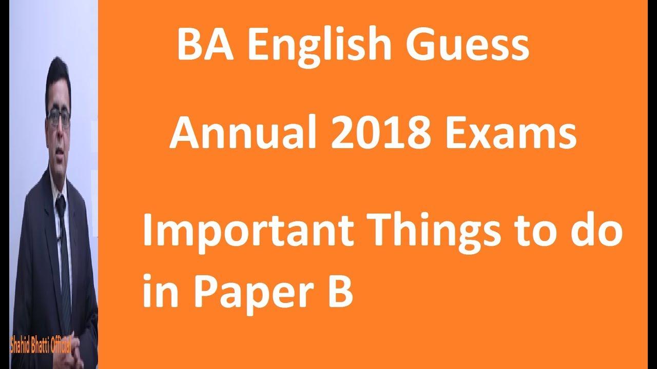 BA English Notes,PU,UoS,IUB