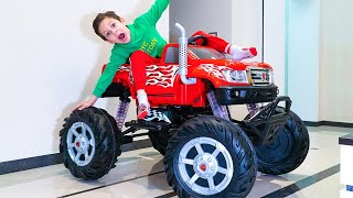 Artem play Magic Toys LEGO Unboxing and Assembling toy the Big Monster Truck
