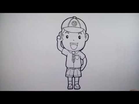การ์ตูน ลูกเสือ สำรอง วาดการ์ตูน กันเถอะ สอนวาดรูป การ์ตูน
