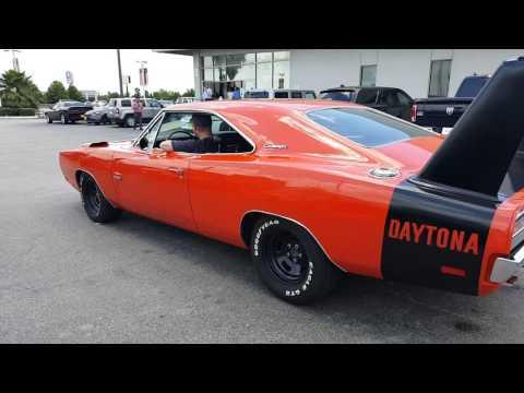 1969 Dodge Charger Daytona burnout.
