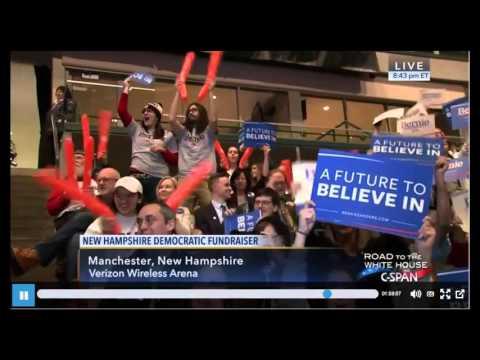 Bernie Sanders New Hampshire Democratic Fundraiser FULL Speech Manchester, NH 2-5-2016