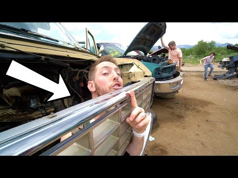 HIDE N SEEK IN A JUNKYARD! (DESTROYED CARS)