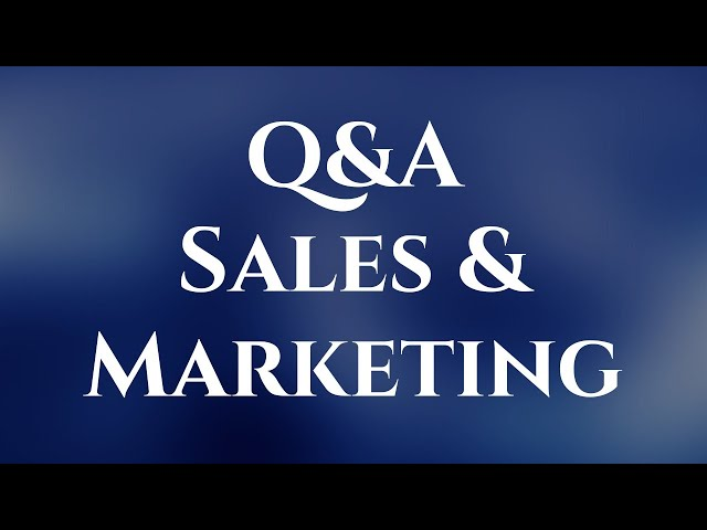 Q&A on Sales & Marketing by Irshant Gautam.