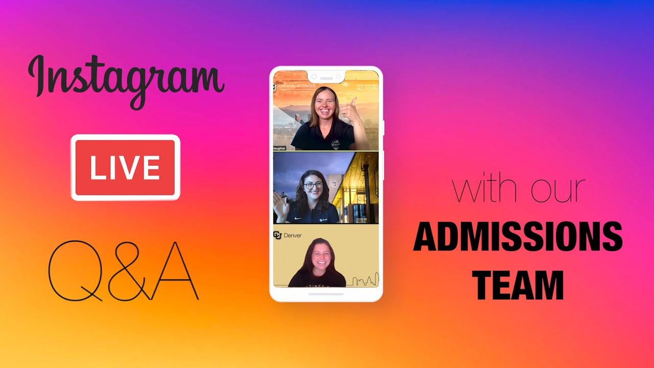 We went LIVE with our ADMISSIONS OFFICE to answer your questions! 🙋♀️🙋♂️