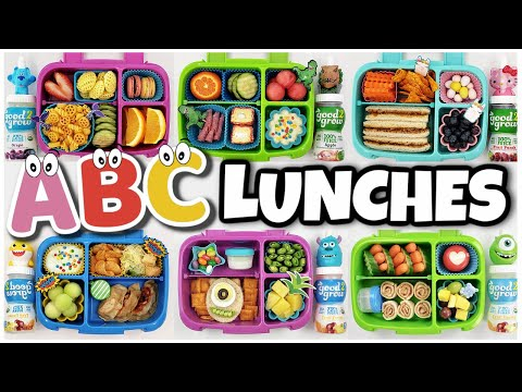 Eating the ENTIRE alphabet for lunch!   A-Z Letter Lunch Challenge