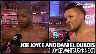 Joe Joyce calls outs Oleksandr Usyk after incredible win over Dubois!