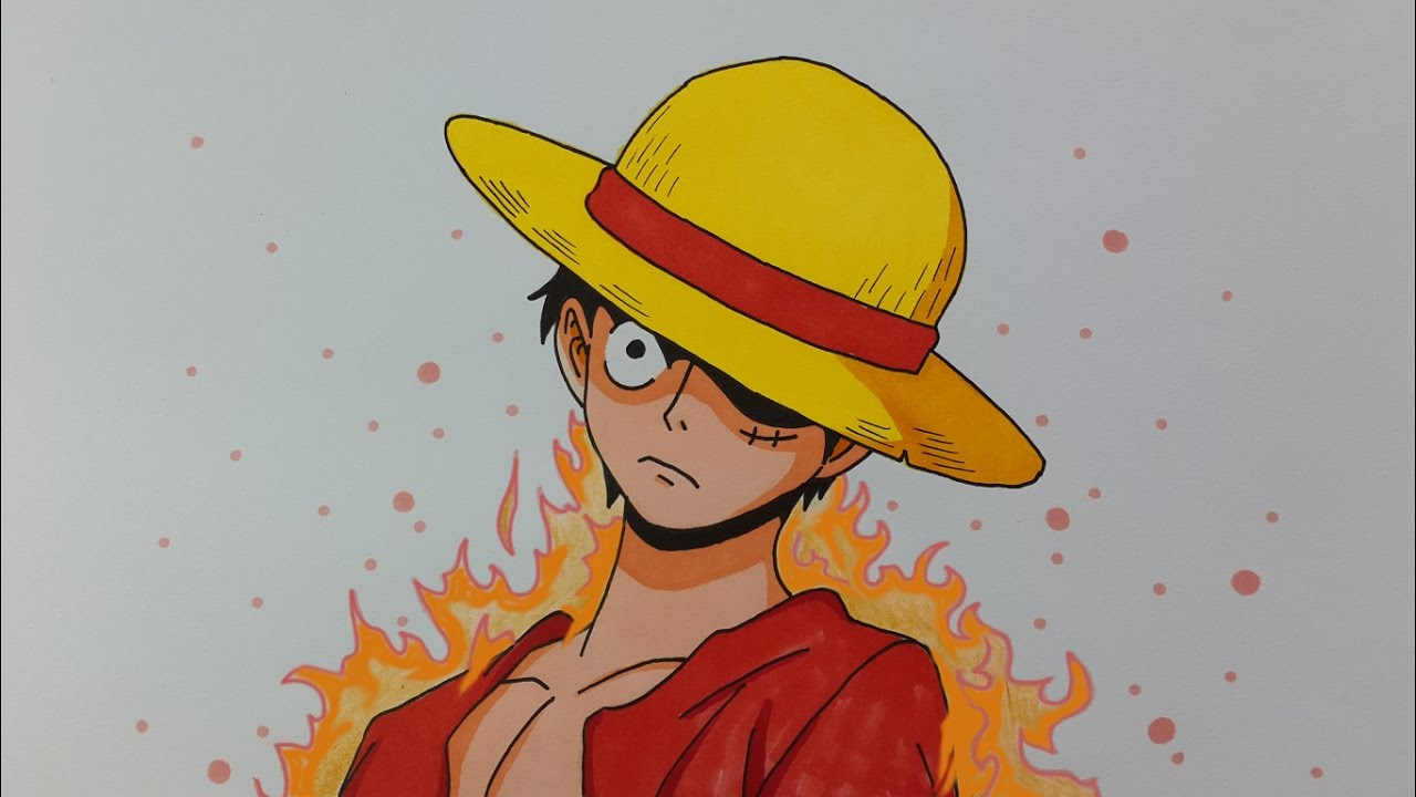 Speed Drawing Monkey D Luffy One Piece