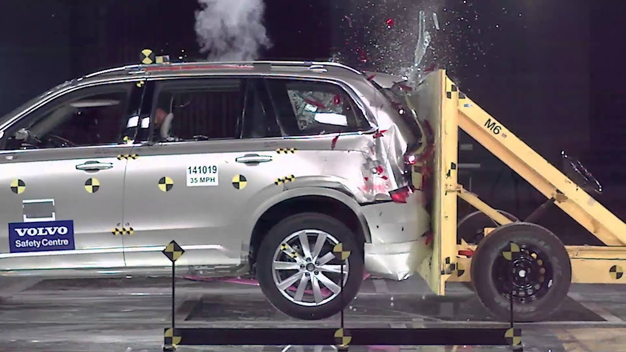 2015 Volvo XC90 – Rear End Crash Test - YouTube
