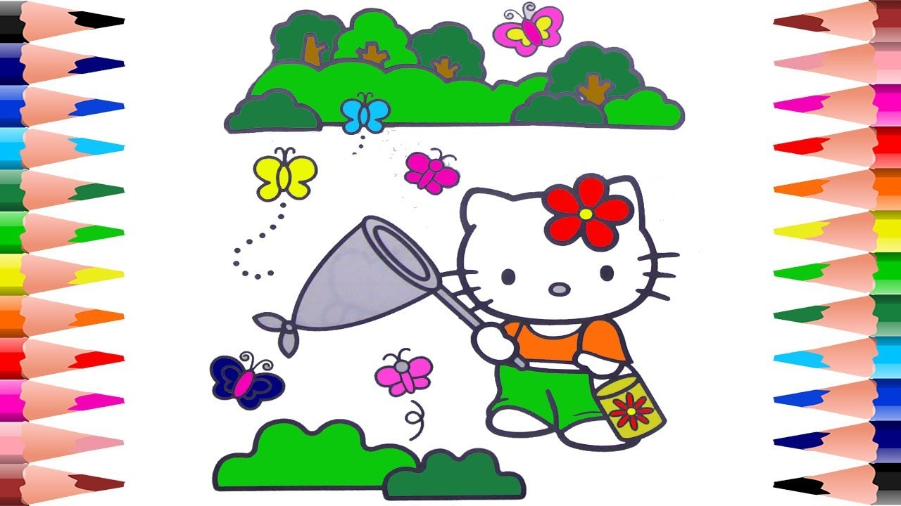 Painting Hello Kitty Coloring Book For Kids Coloring For Kids