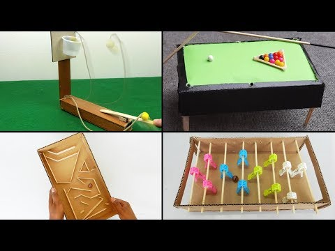 4 Easy DIY Toys for Kids | Best out of Waste - Cardboard & Popsicle Stick Crafts