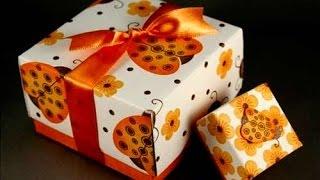 Как сделать коробочку для подарка. Видео от Анатольевича.(Как сделать коробочку для подарка из картона своими руками. Видео от Анатольевича. Мастер классы от Анатоль..., 2015-12-20T13:14:13.000Z)