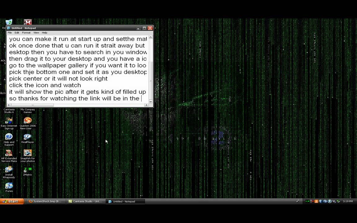 how to get a animated matrix wallpaper and screensaver