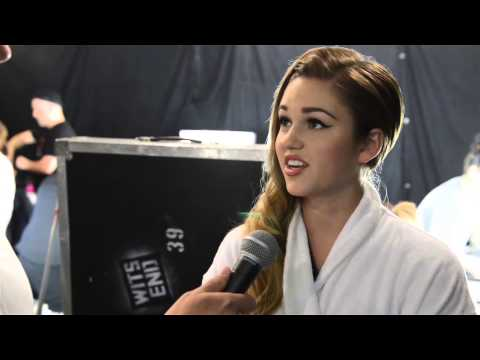 Sadie Robertson of 'Duck Dynasty', backstage before Sherri Hill Runway Show