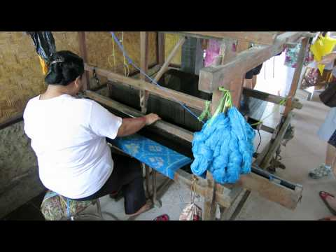 Honeymoon in Bali day 1 - Hand made Fabrics 1