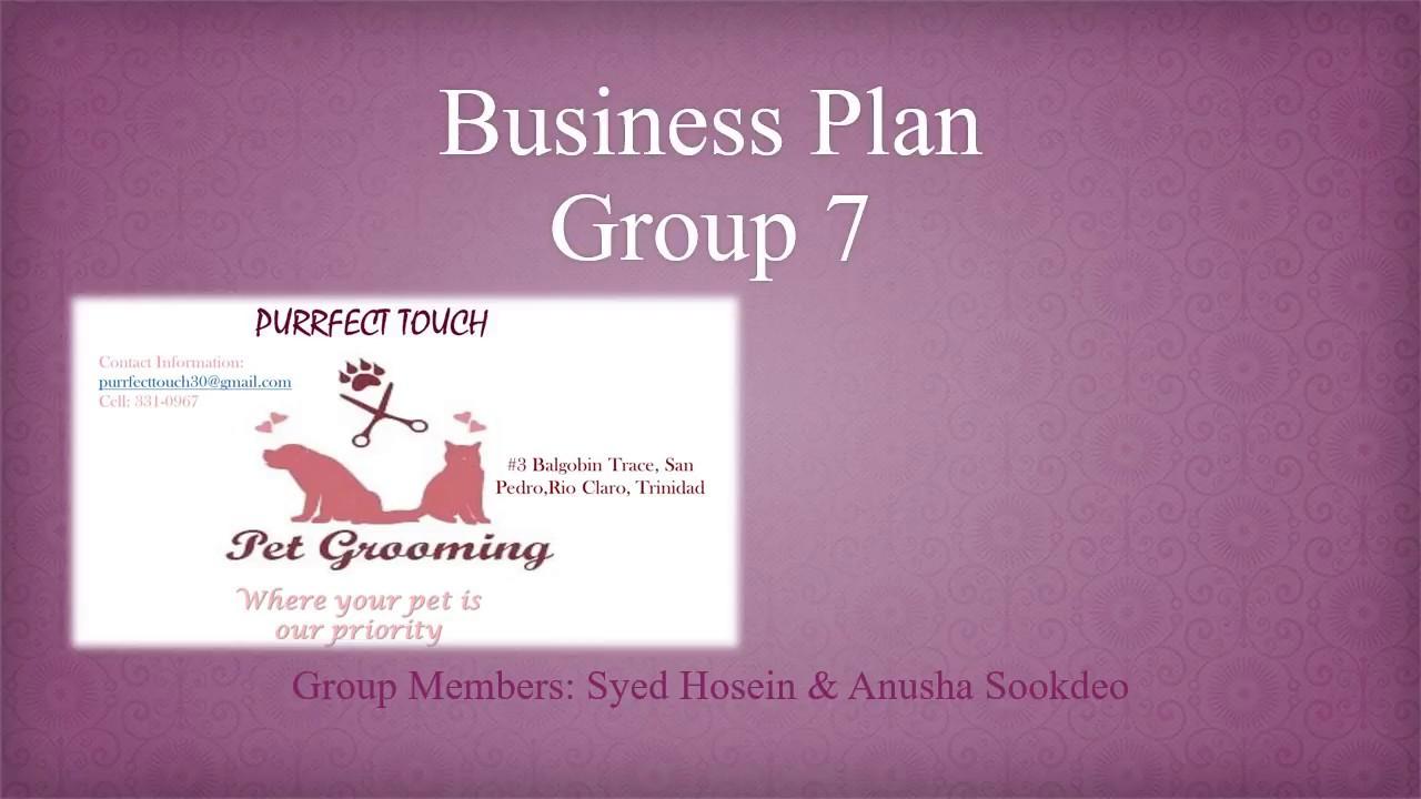 Group 7 Business Plan Pet Grooming