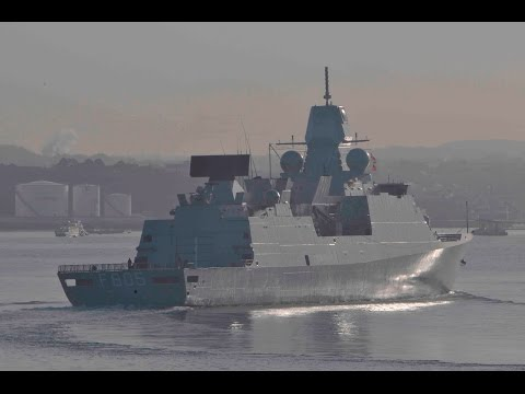 ROYAL NETHERLANDS NAVY HNLMS EVERTSEN F805 LEAVES DEVONPORT AT WESTERN KINGS - 13th March 2017