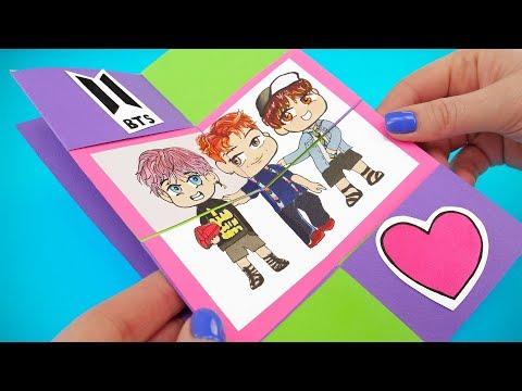 DIY MAGIC CARD BTS (Bangtan Boys) STYLE   EASY KAWAII PAPERCRAFTING